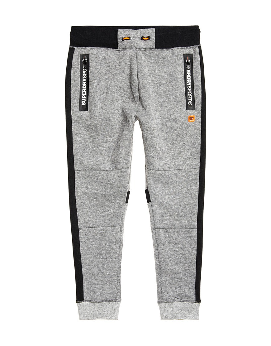 Grijs zwarte heren Techpant Superdry - M70000PQ grey gd