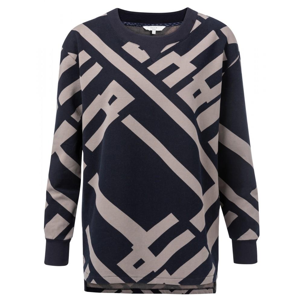 Dames sweatshirt met grafische print YAYA - 1009172-922, 939221