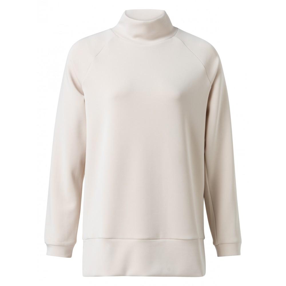 Beige sweatshirt met hoge hals YAYA - 1009193-924 - 30401