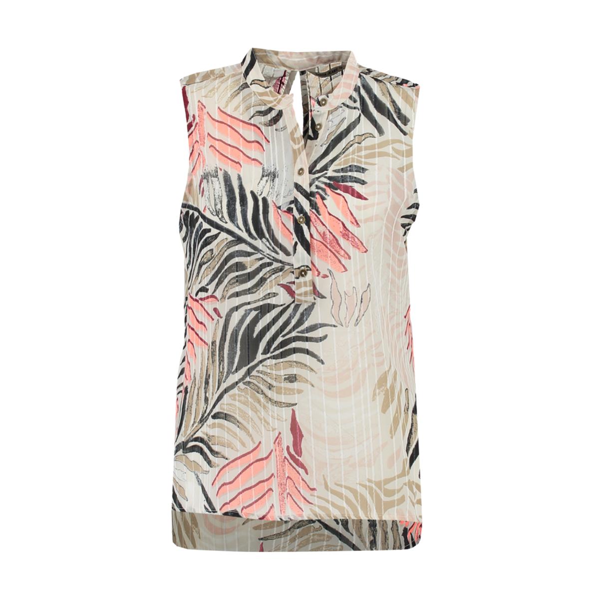 Beige geprinte dames blouse Garcia - p80235
