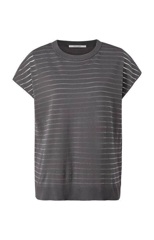 Grijs dames shirt met strepen - Ya Ya - 1000461-121 - 83908