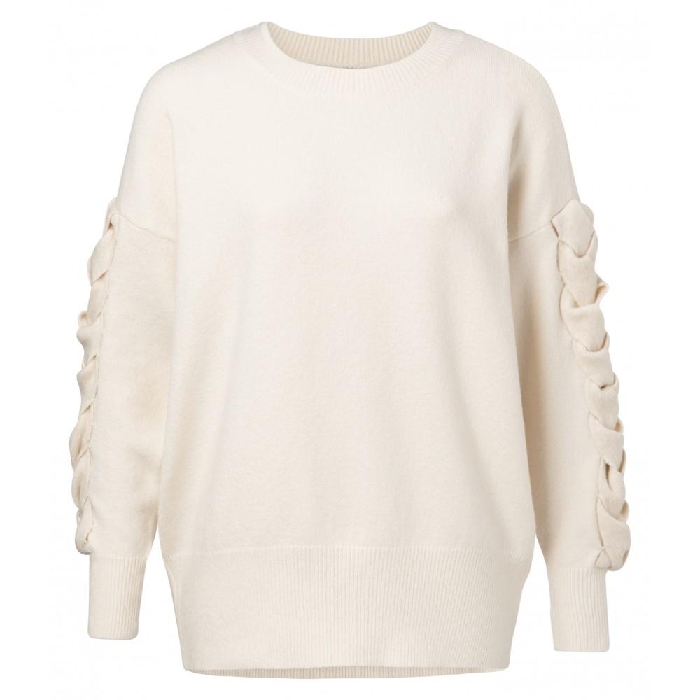 Crème kleurige dames trui YAYA - 100071-911