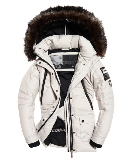 Grijze dames winter/ski jack Superdry - G50001GP