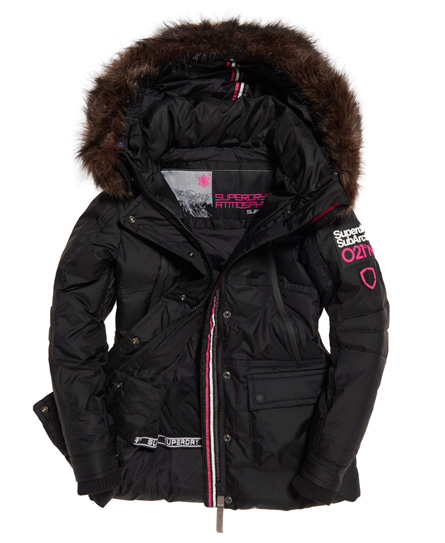 Zwarte dame ski/winter parka Superdry - G50001GP