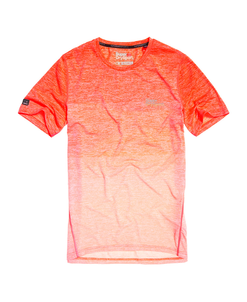 Oranje wit Trainingshirt Superdry -M10000PQ fluo oe