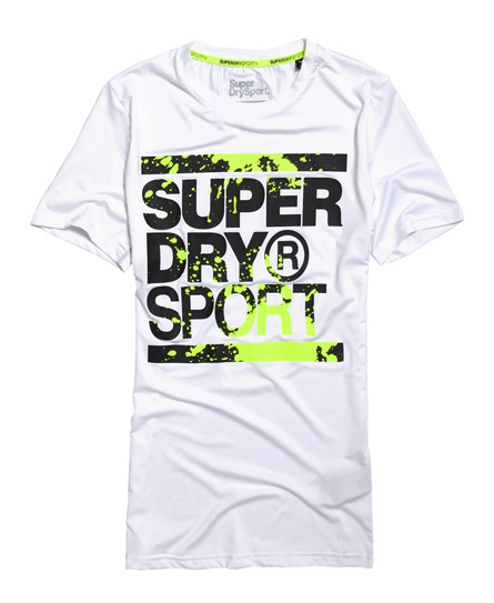Wit zwart Groen Trainingshirt Superdry - M10000WQF1 white