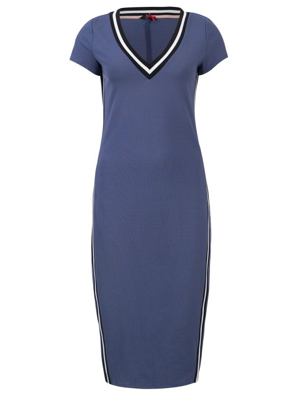 Blauwe lange dames jurk Dept - 33001093