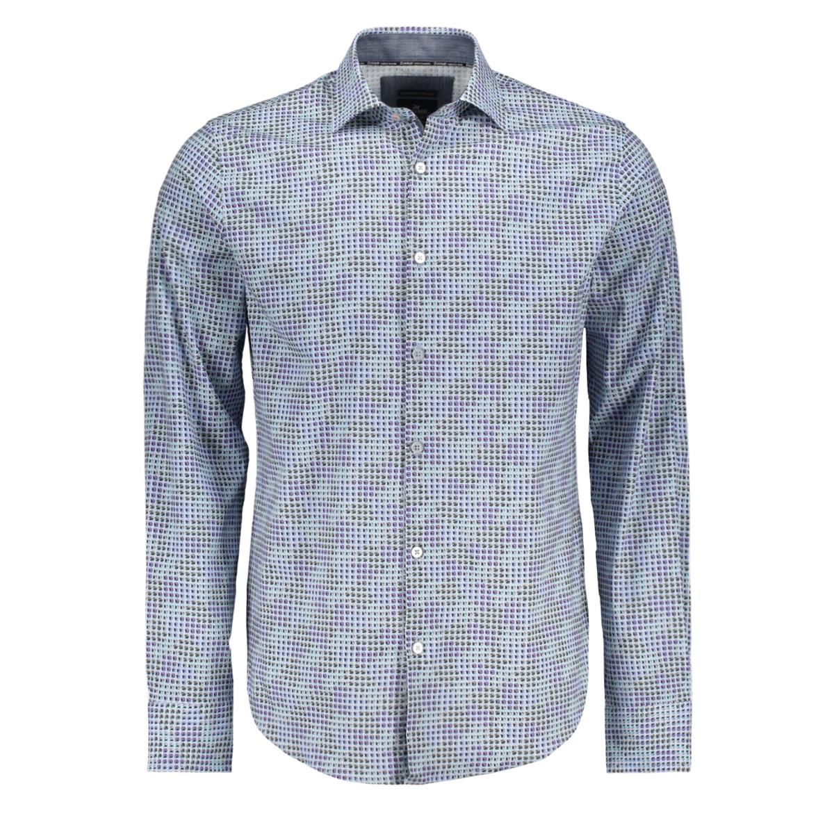 Blauw geprint heren overhemd Vanguard - VSI188402