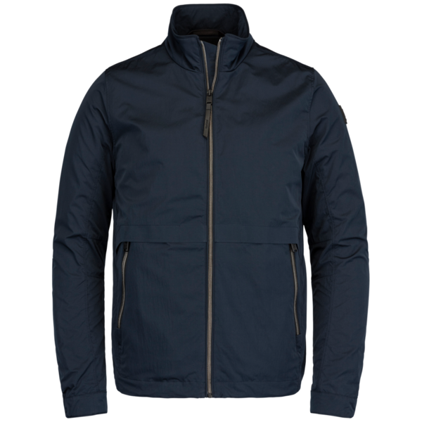 blauwe heren jas - vanguard - zip jacket micro peach shiftstand - 5073