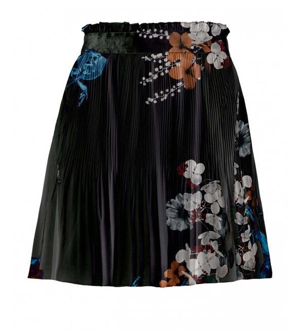 Zwarte dames rok met bloemen print YAYA - 140109-824