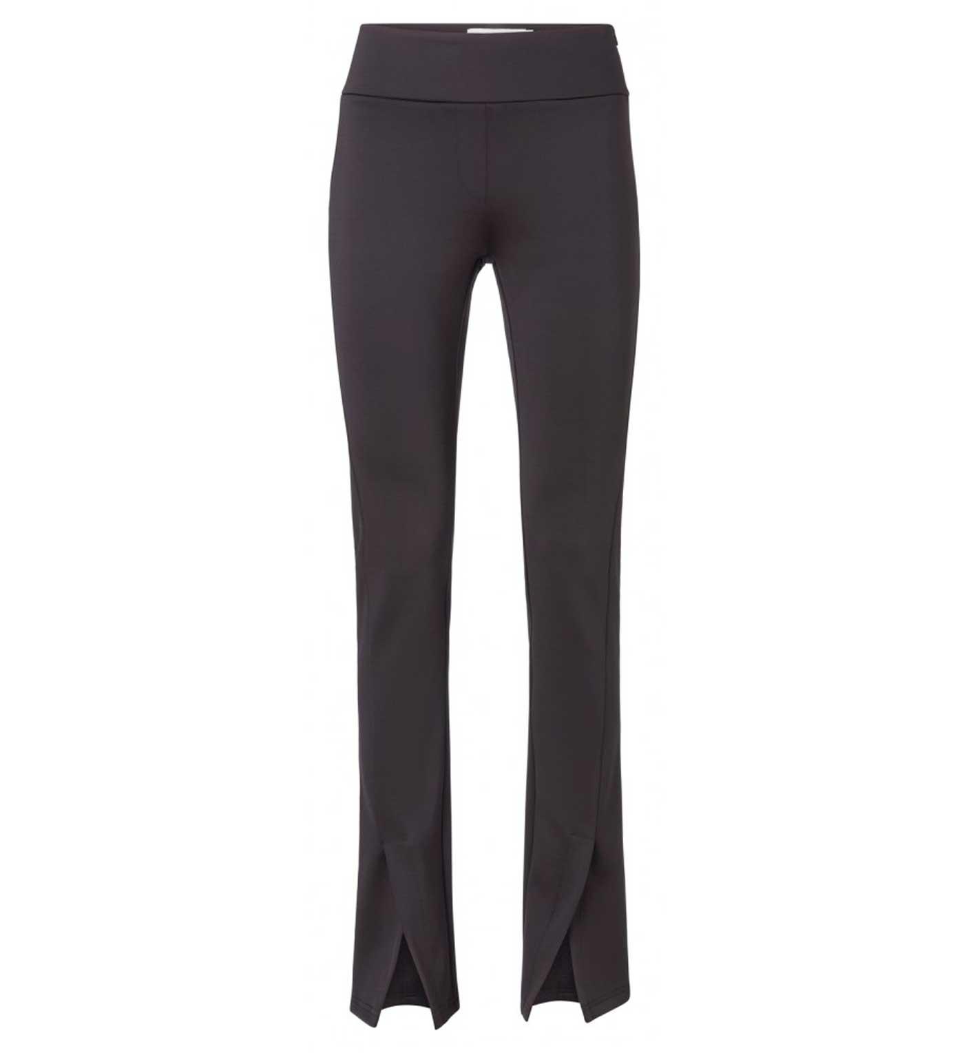 Zwarte dames broek met splitjes YAYA - 126002-824