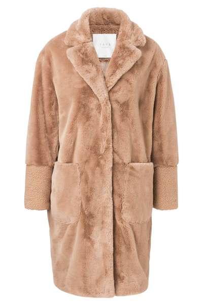 Beige kleurige dames jas YAYA - 161108-824
