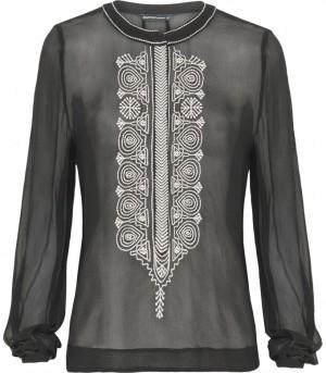 zwarte blouse Summum model: 2s1646-2977a in dessin: 990