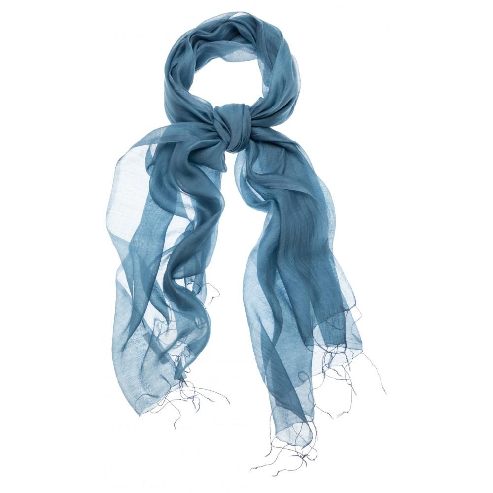 Blauwe zijdemix sjaal YAYA - 130130-911