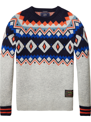 Grijze Heren Trui.Sportique Zeewolde Heren Grijze Heren Sweater Scotch Soda 101646