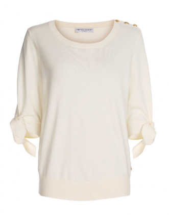 Wit dames shirt - Fabienne Chapot - Molly short sleeves pull - off white