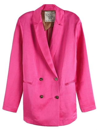 Roze dames blazer Maison Scotch - 150037