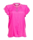 Roze dames top met ruffle mouw Maison Scotch - 149820