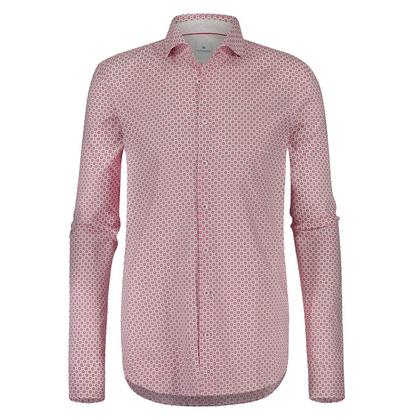 Heren Overhemd Rood.Sportique Zeewolde Heren Wit Rood Geprint Heren Overhemd Blue