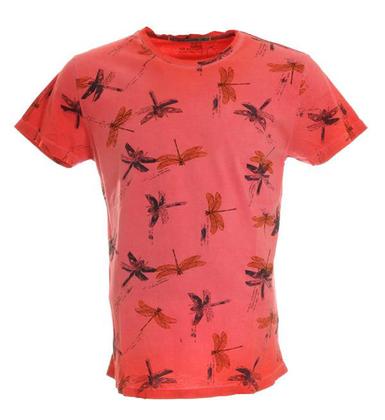 Heren Overhemd Rood.Sportique Zeewolde Heren Roze Rood Geprint Heren Overhemd No