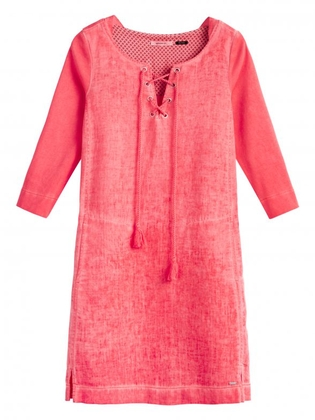 sandwich jurk roze